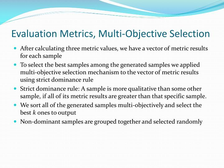 Evaluation Metrics, Multi-Objective Selection