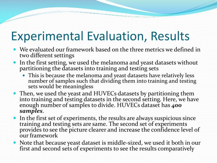 Experimental Evaluation, Results