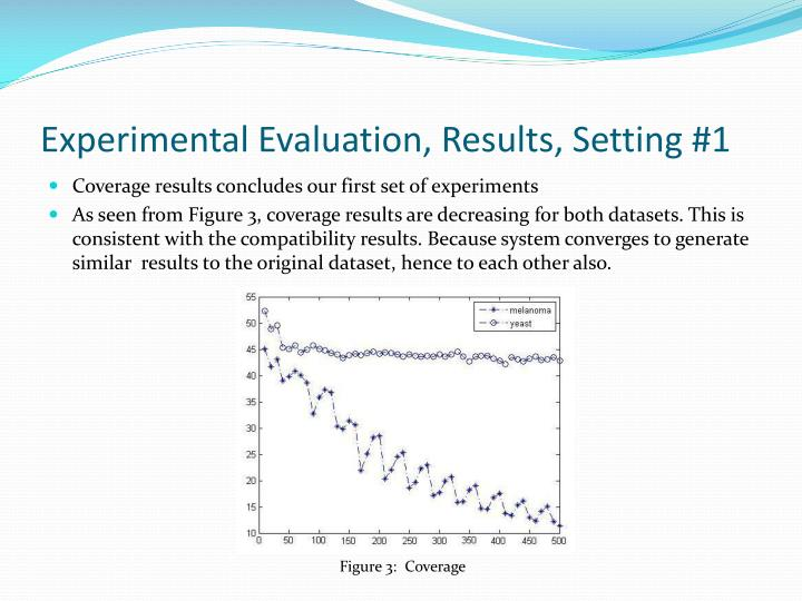 Experimental Evaluation, Results, Setting #1