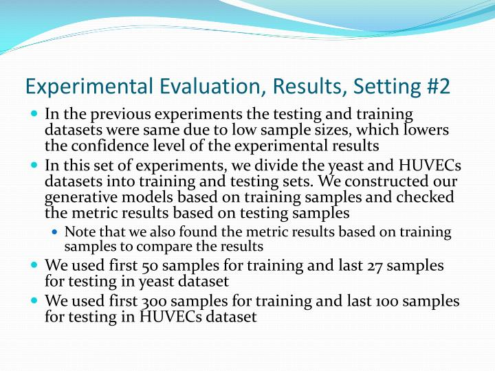 Experimental Evaluation, Results, Setting #2