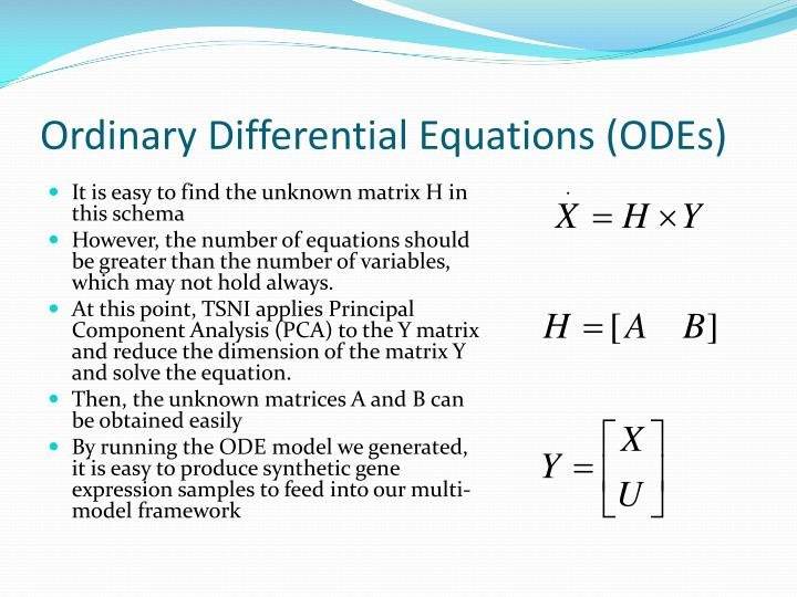 Ordinary Differential Equations (ODEs)