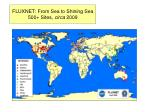fluxnet from sea to shining sea 500 sites circa 2009