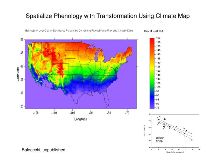 Spatialize Phenology with Transformation Using Climate Map