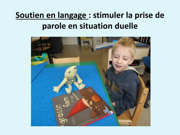 Soutien en langage