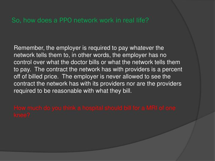 So, how does a PPO network work in real life?