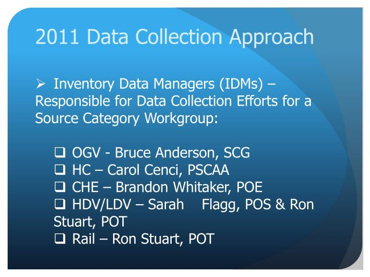 2011 data collection approach