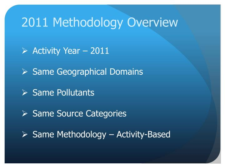 2011 Methodology Overview