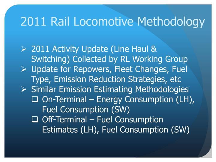 2011 Rail Locomotive Methodology