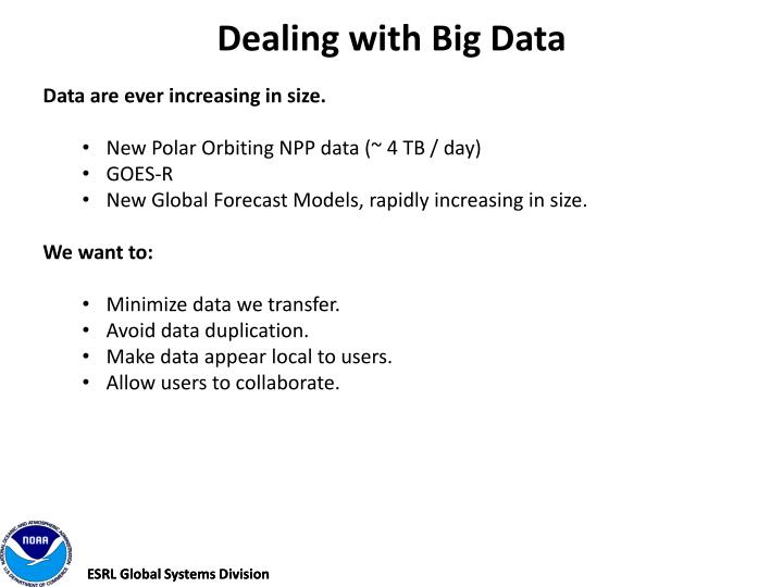 Dealing with Big Data