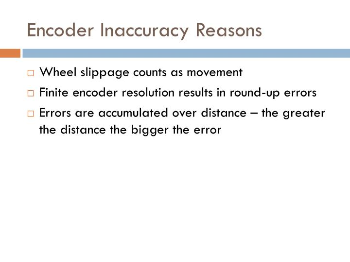 Encoder Inaccuracy Reasons