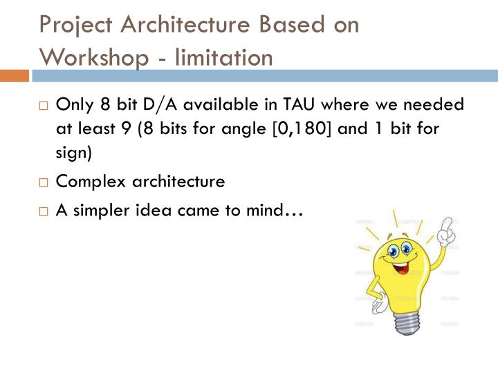 Project Architecture Based on Workshop -