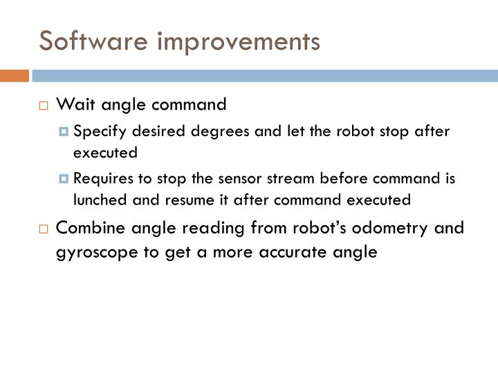 Software improvements