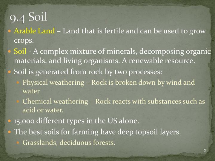 9.4 Soil