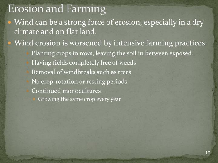 Erosion and Farming