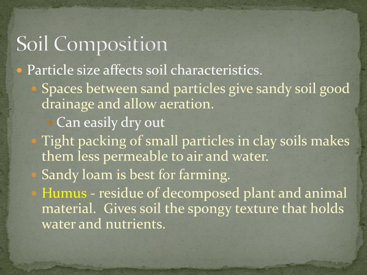 Soil composition