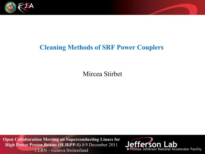 Cleaning methods of srf power couplers