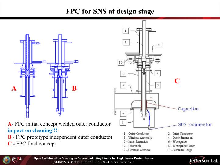 FPC for SNS at design stage