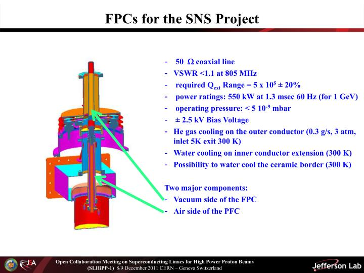 FPCs for the SNS Project