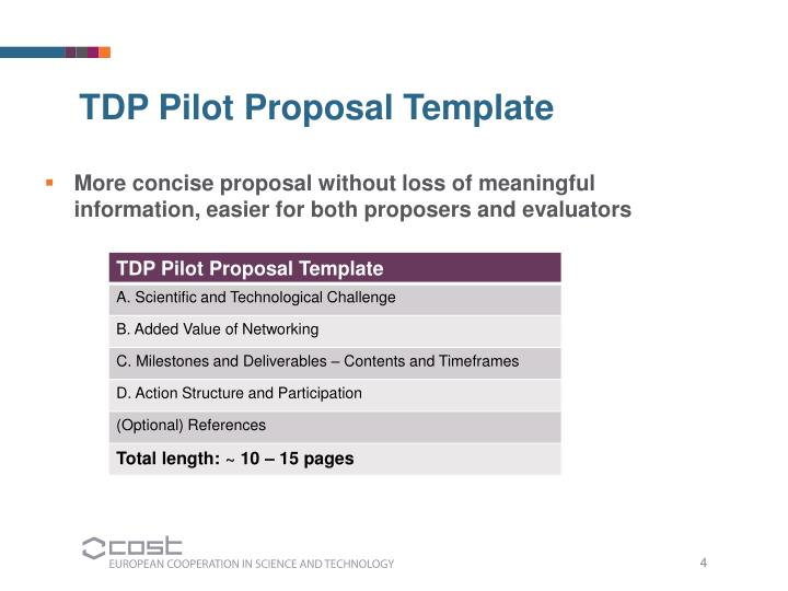 More concise proposal without loss of meaningful information, easier for both proposers and evaluators