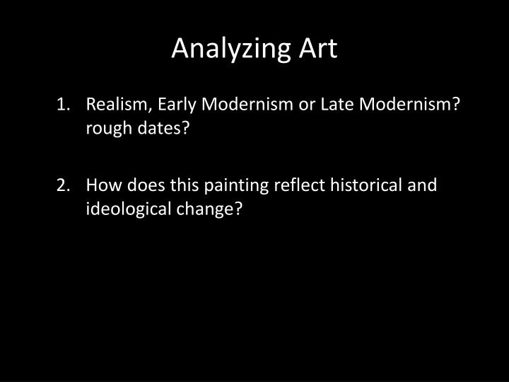 Analyzing Art