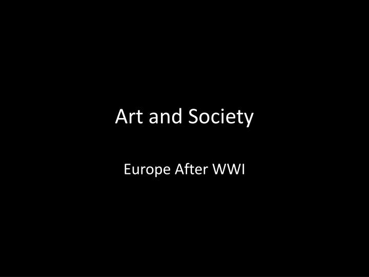 Art and society