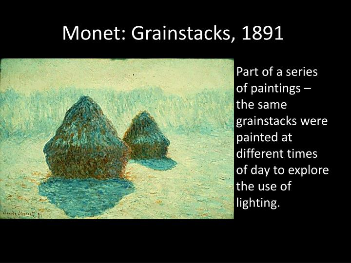 Monet: Grainstacks, 1891