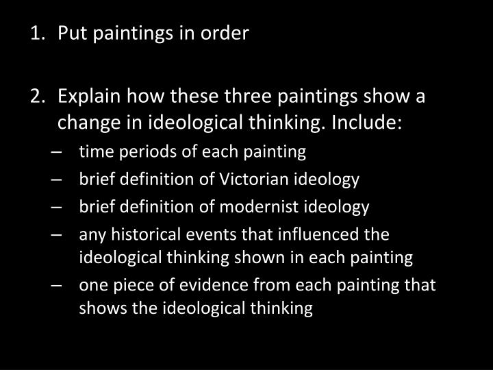 Put paintings in order