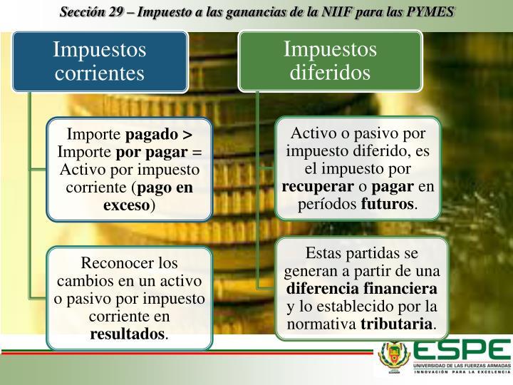 Sección 29 – Impuesto a las ganancias de la NIIF para las PYMES