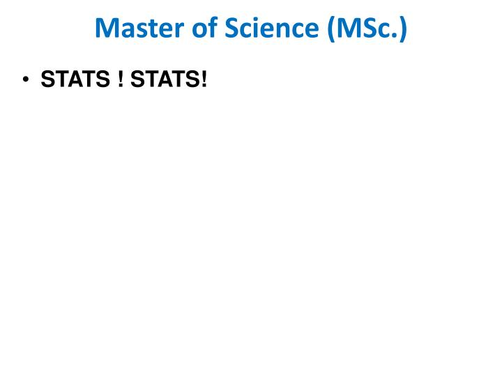 Master of Science (