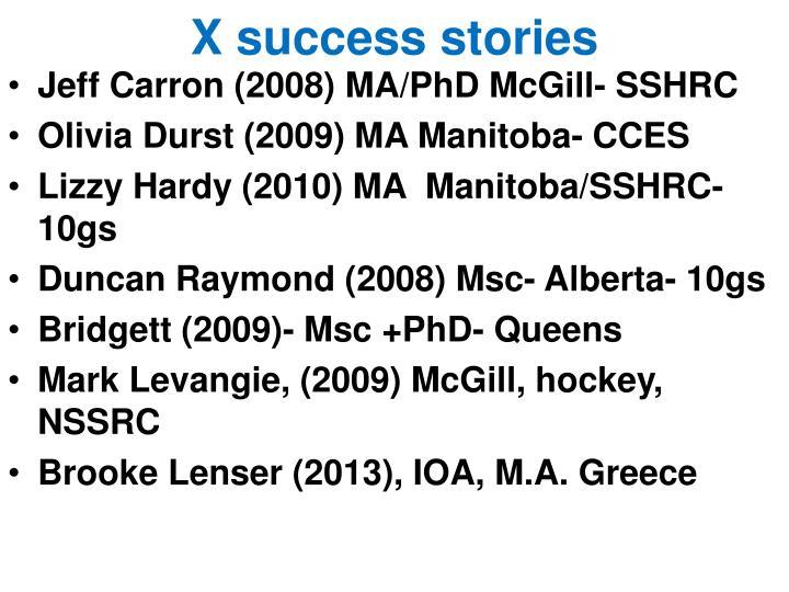 X success stories