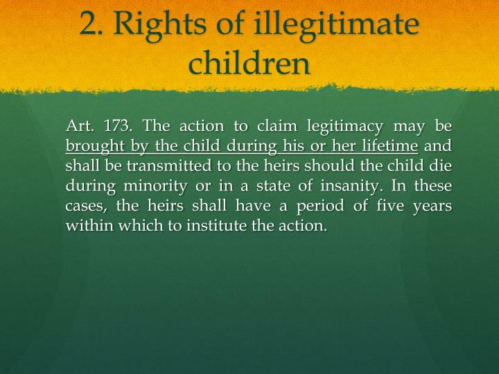 2. Rights of illegitimate children