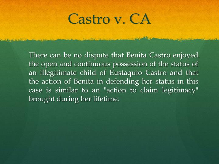 Castro v. CA