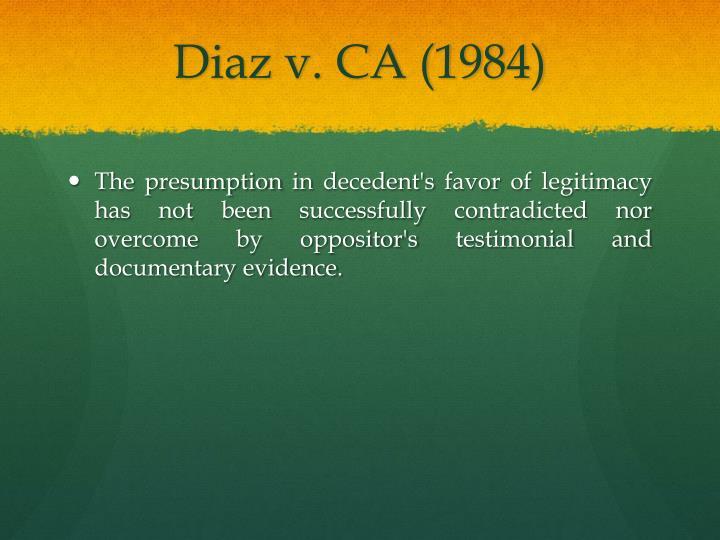 Diaz v. CA (1984)