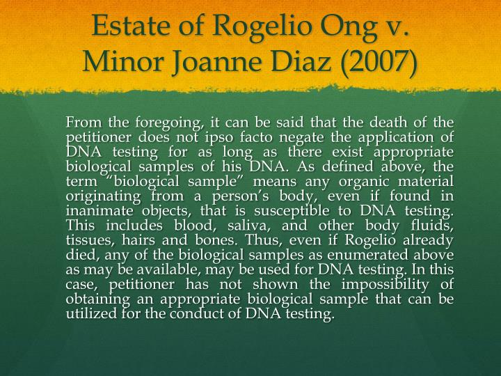 Estate of Rogelio