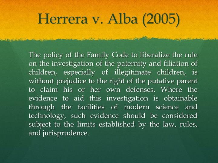 Herrera v. Alba (2005)
