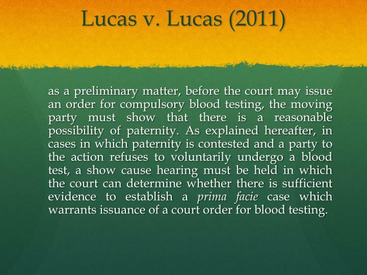 Lucas v. Lucas (2011)