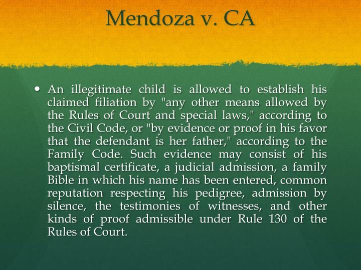 Mendoza v. CA