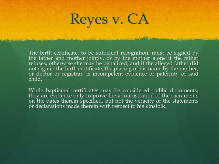 Reyes v. CA