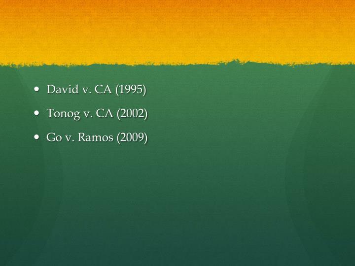 David v. CA (1995)