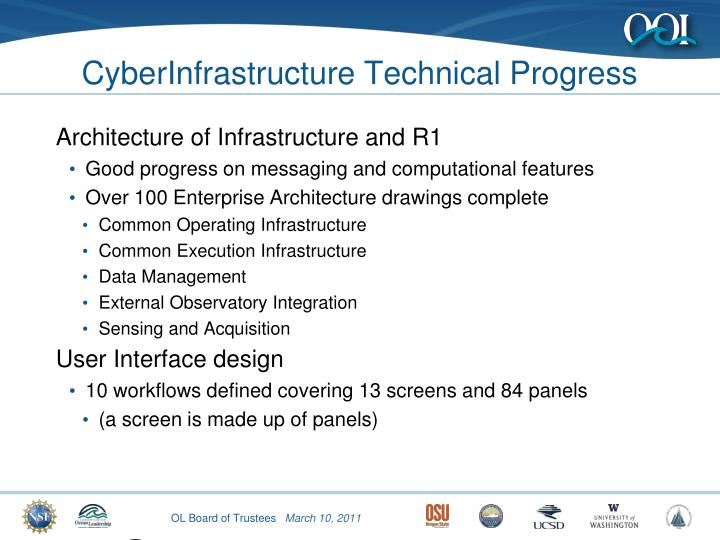 CyberInfrastructure Technical Progress