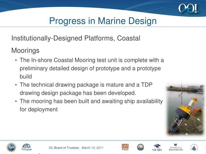 Progress in Marine Design