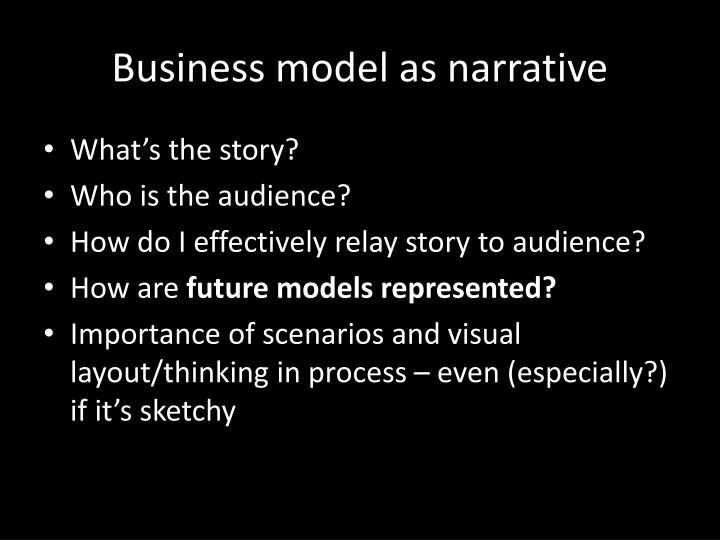 Business model as narrative