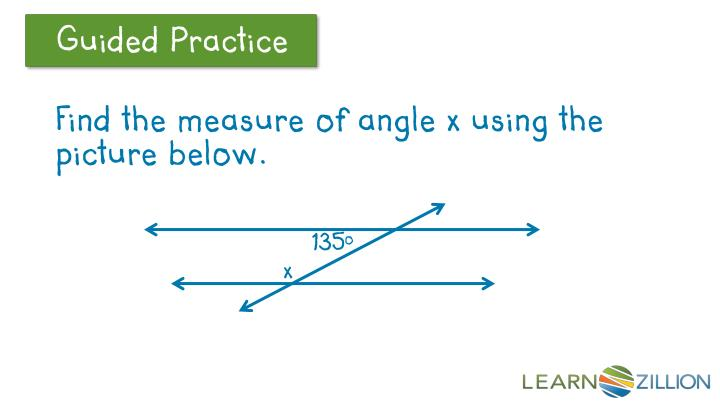 Find the measure of angle x using the picture below.