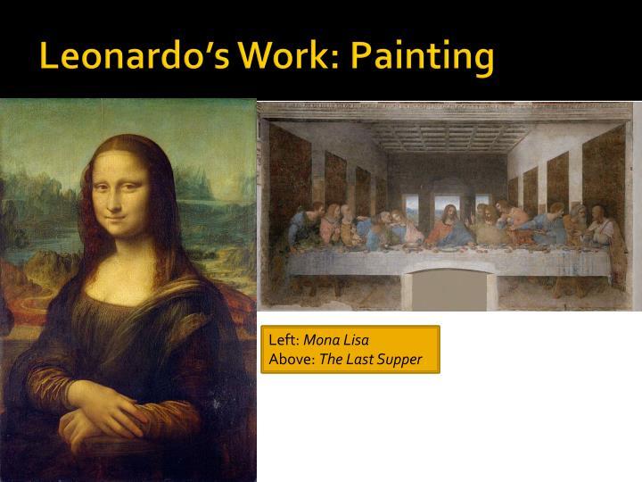 Leonardo's Work: Painting