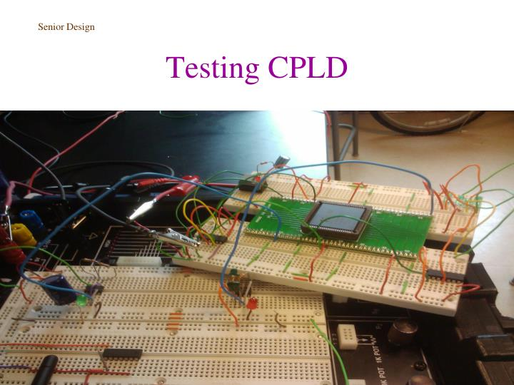 Testing CPLD