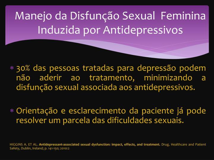 Manejo da Disfunção Sexual  Feminina Induzida