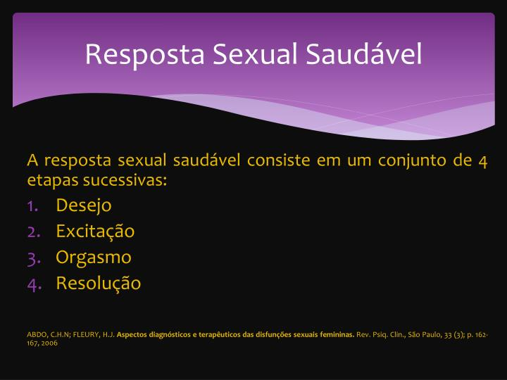 Resposta Sexual Saudável