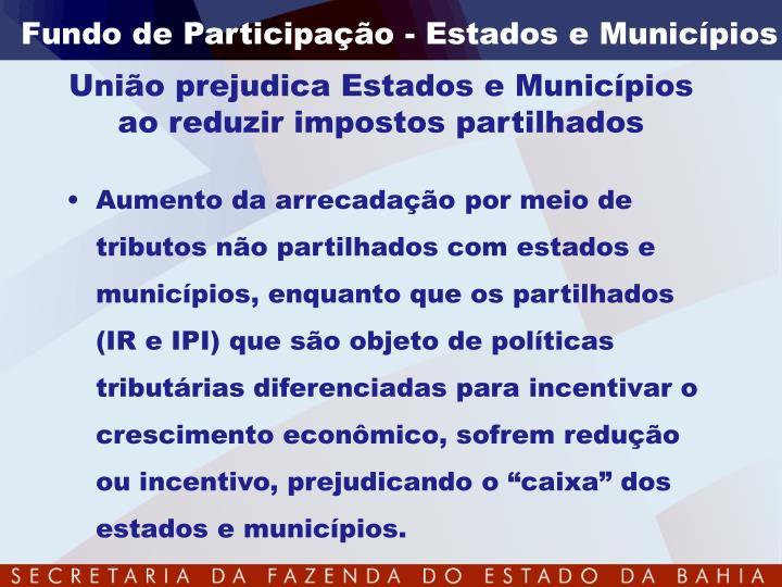 Fundo de Participação - Estados e Municípios