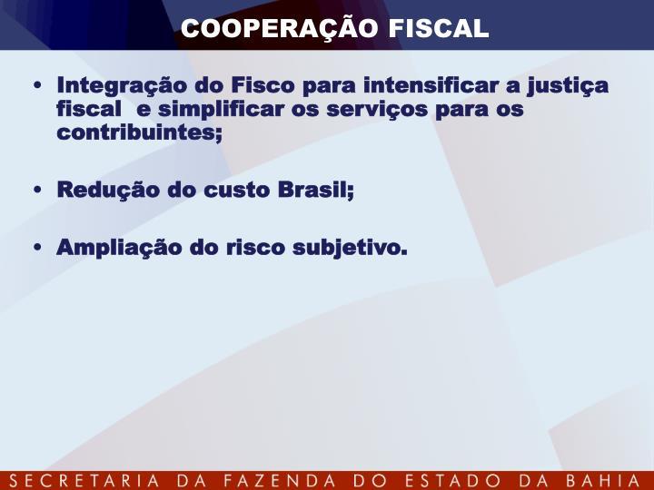 COOPERAÇÃO FISCAL