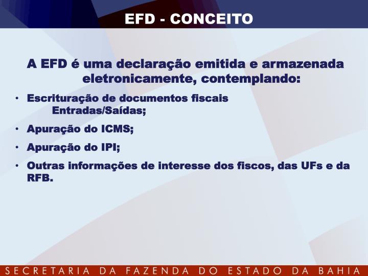 EFD - CONCEITO